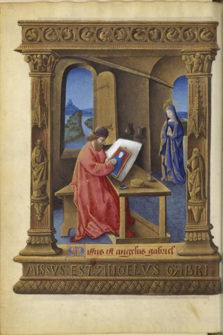Bnf latin 920 f32v Heures de louis de laval, bourges ou tours 1470-1475