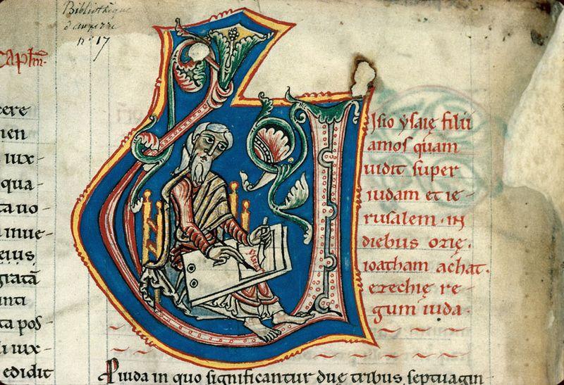 Auxerre 17 folio 17v 12e s st jérome (mane akimage 220)