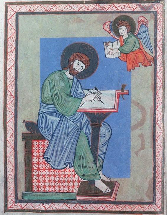 St mathieu Linz (autriche) Oberösterreichische Landesbibliothek Codex 195 (neu 415).folio 17v 12e s - copie 2
