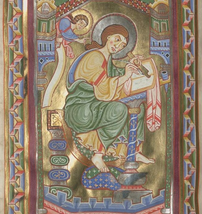 Munich bayerische staatsbibliothek Clm 21580 f48 st mathieu Bistum Freising (Tegernsee ?) 1170-1180