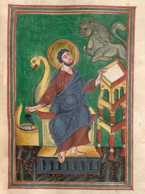 Munich bayerische staatsbibliothek Clm 22311 St mathieu f97 st gallen spates 9s anfang 10e 2