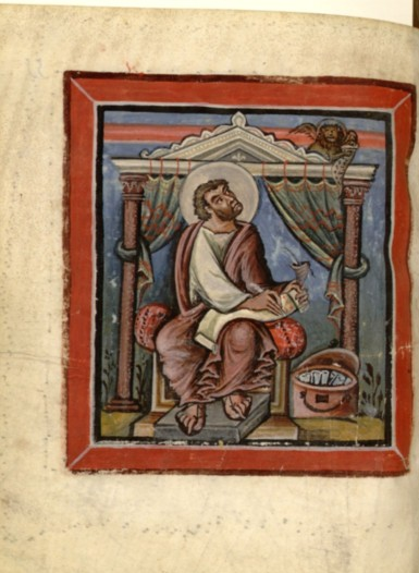 800-850 bnf latin 17968 f55V st marc reims 1ère moitié du 9e évangiles de loisel