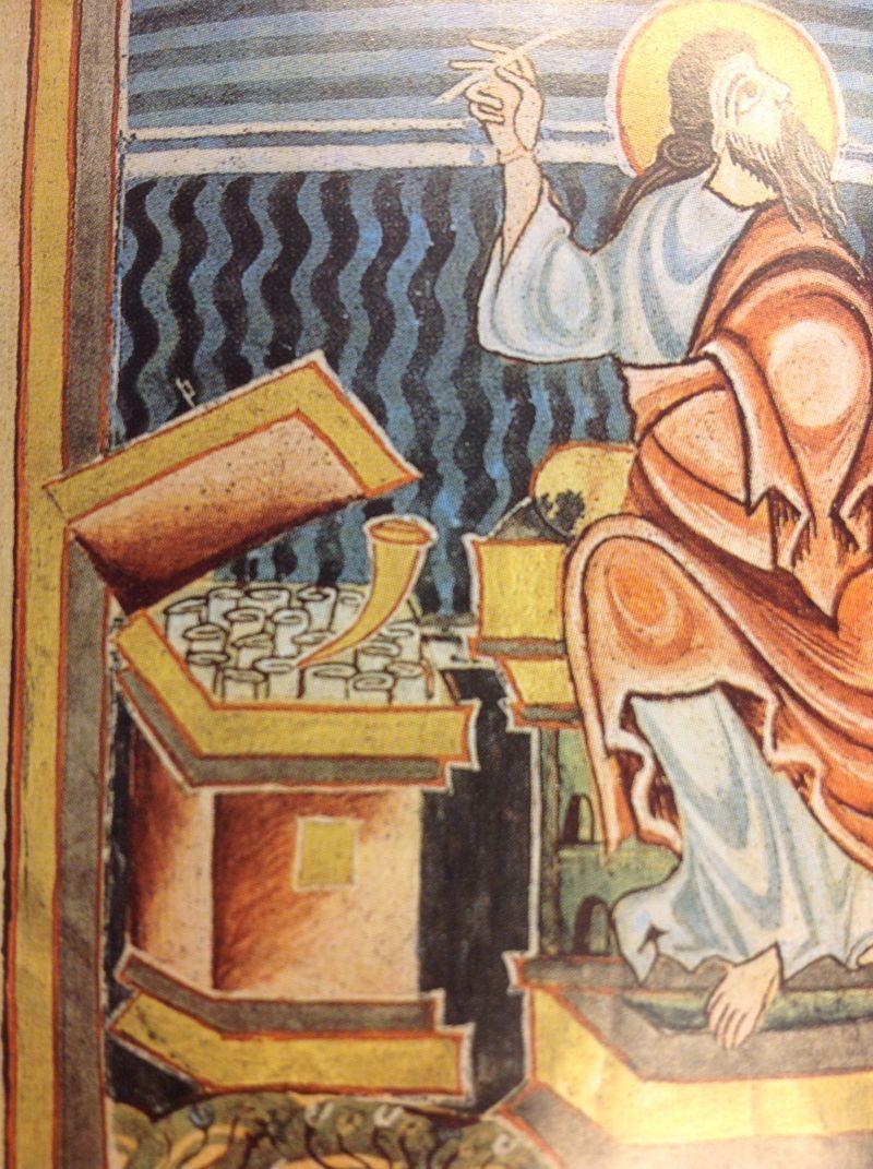 970-1030capsa corne St MArc Sogenanntes evangeliar des bischofs hezilo, hildesheim domschatz 34 folio 66v, Hildesheim, zwischen 970 und 1030