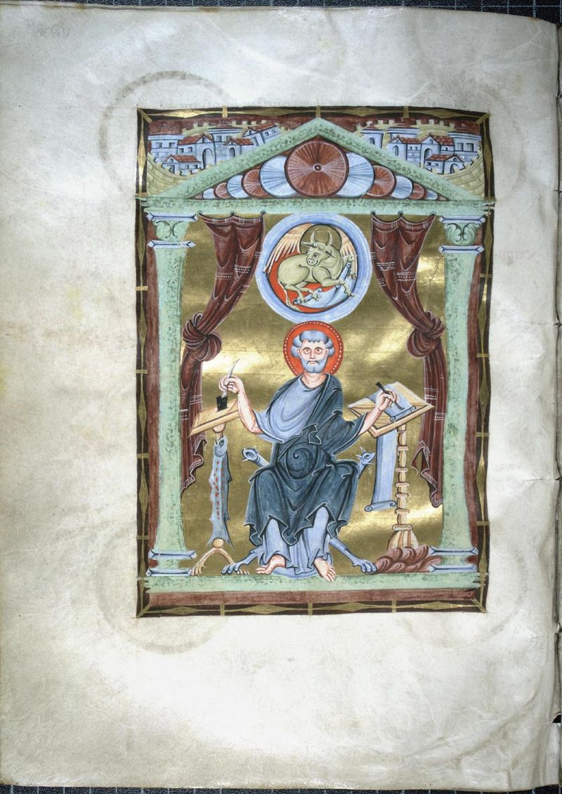 22. peint à Reichnau Erweitertes Kurzkatalogisat Köln, Dombibliothek, Codex 218. folio 108v 11e siècle copie