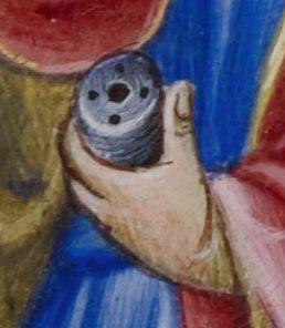 0st Luc2 BL Add 28962 fol 34v 1436-1443 Psautier et heures à l'usage des dominicain, Livre de prière d'Alphonse V d'Aragon