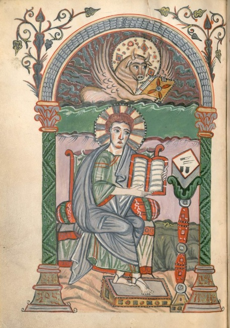 Munich bayerische staatsbibliothek Clm 4451 St luc f176 meinz 2 9e siècle