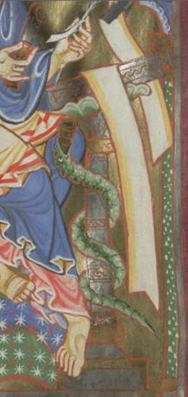 Munich bayerische staatsbibliothek Clm 21580 f186 st luc Bistum Freising (Tegernsee ?) 1170-1180 - copie