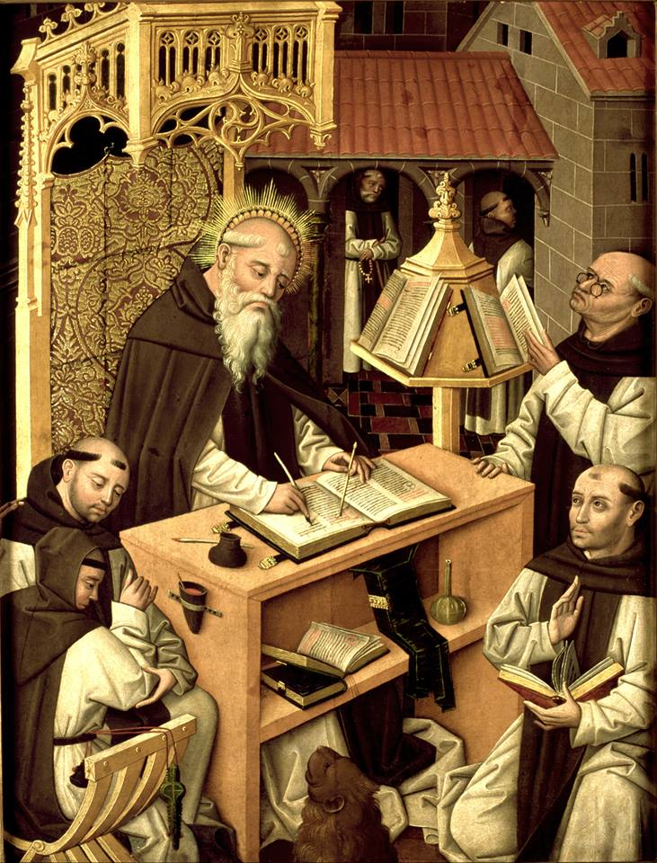 *st jérome Master of Parral, St Jerome in the scriptorium, 1480 - 1490 - copie