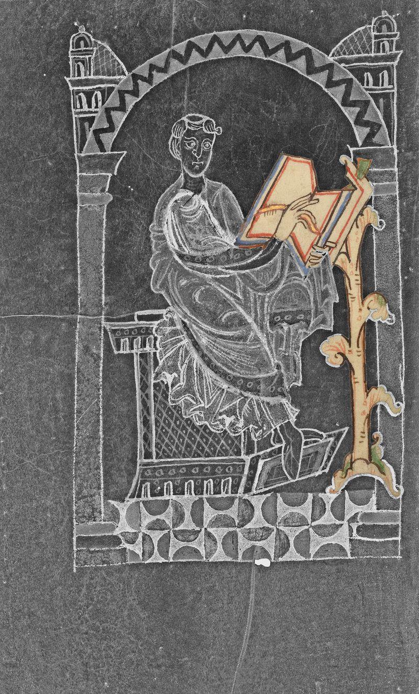 12e Eadmer de Canterbury 2 1140-1150, Paul Getty museum, Ms. Ludwig XI 6, fol. 2v Tournai Vie de saint anselme de Canterbury