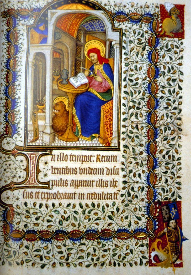 *st marc France 1ere moitié 15e heures de marguerite d'orléans bnf latin 1156B folio 17 gahom 7579