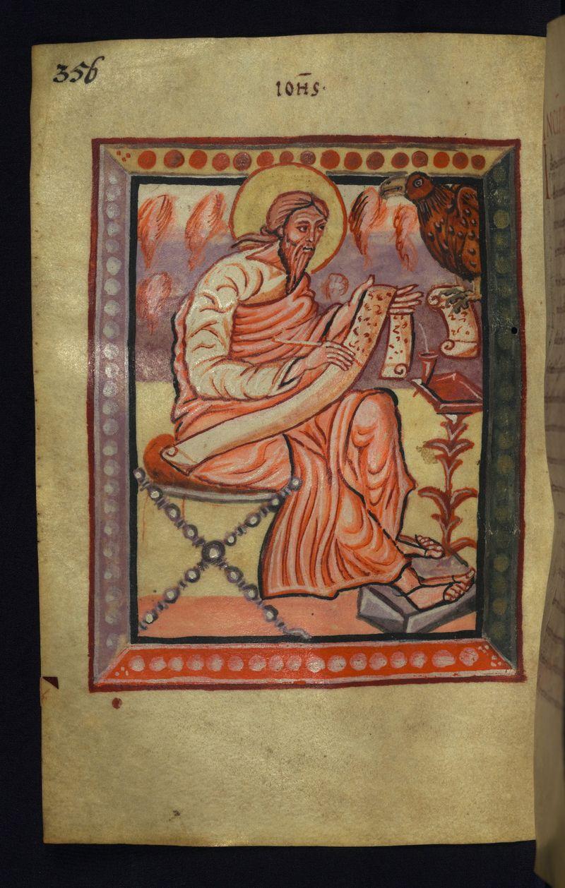 Walters Ms. W.4, c 875 Freising Gospels f178v st jean