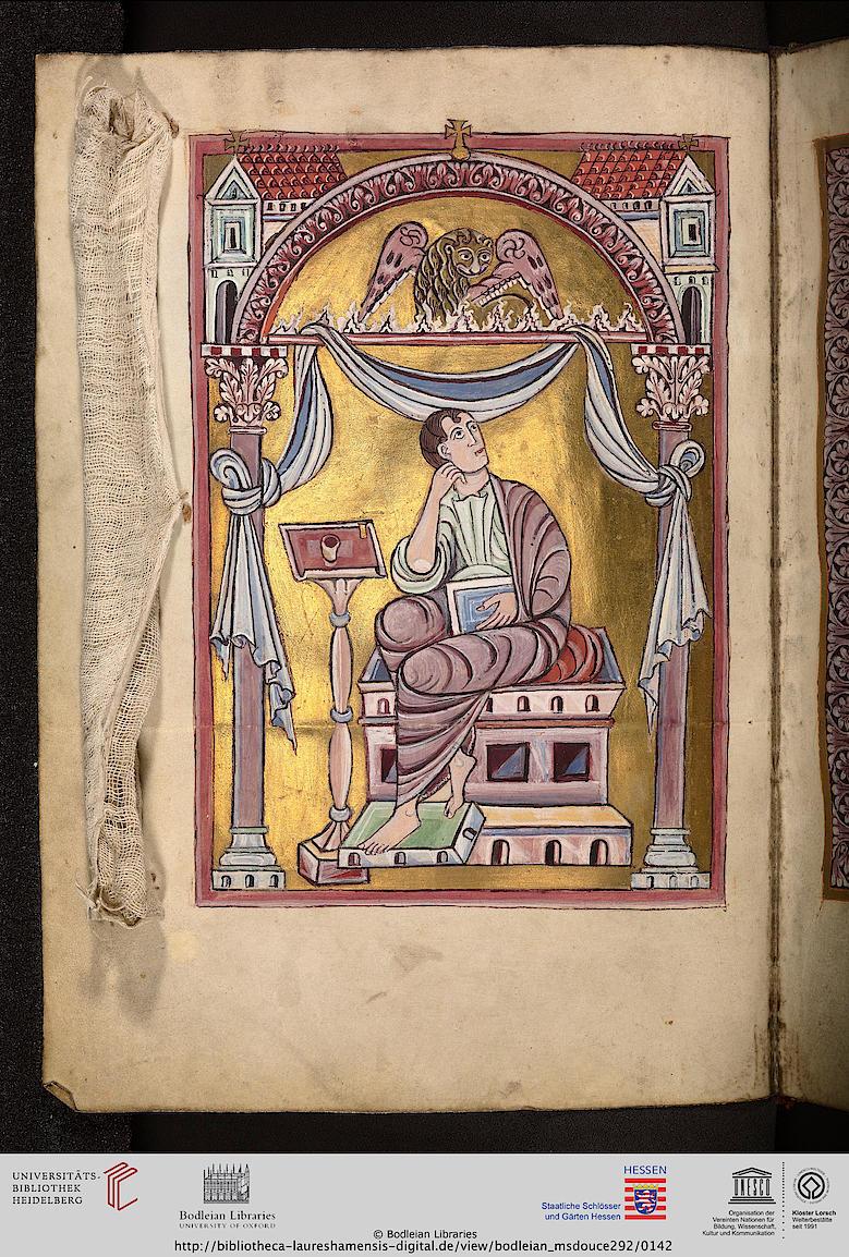 *alengui st marc Oxford, Bodleian Library, MS. Douce 292 Evangeliarium (unvollständig) Lorsch (?) oder Lüttich (?), 2. Viertel oder Mitte 11. Jh. folio 069v
