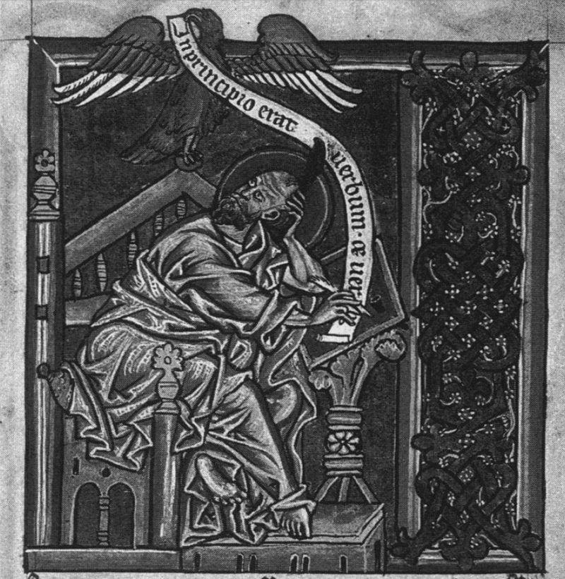 *alangui, preetz, evangeliar folio 129r st jean 13e? bis