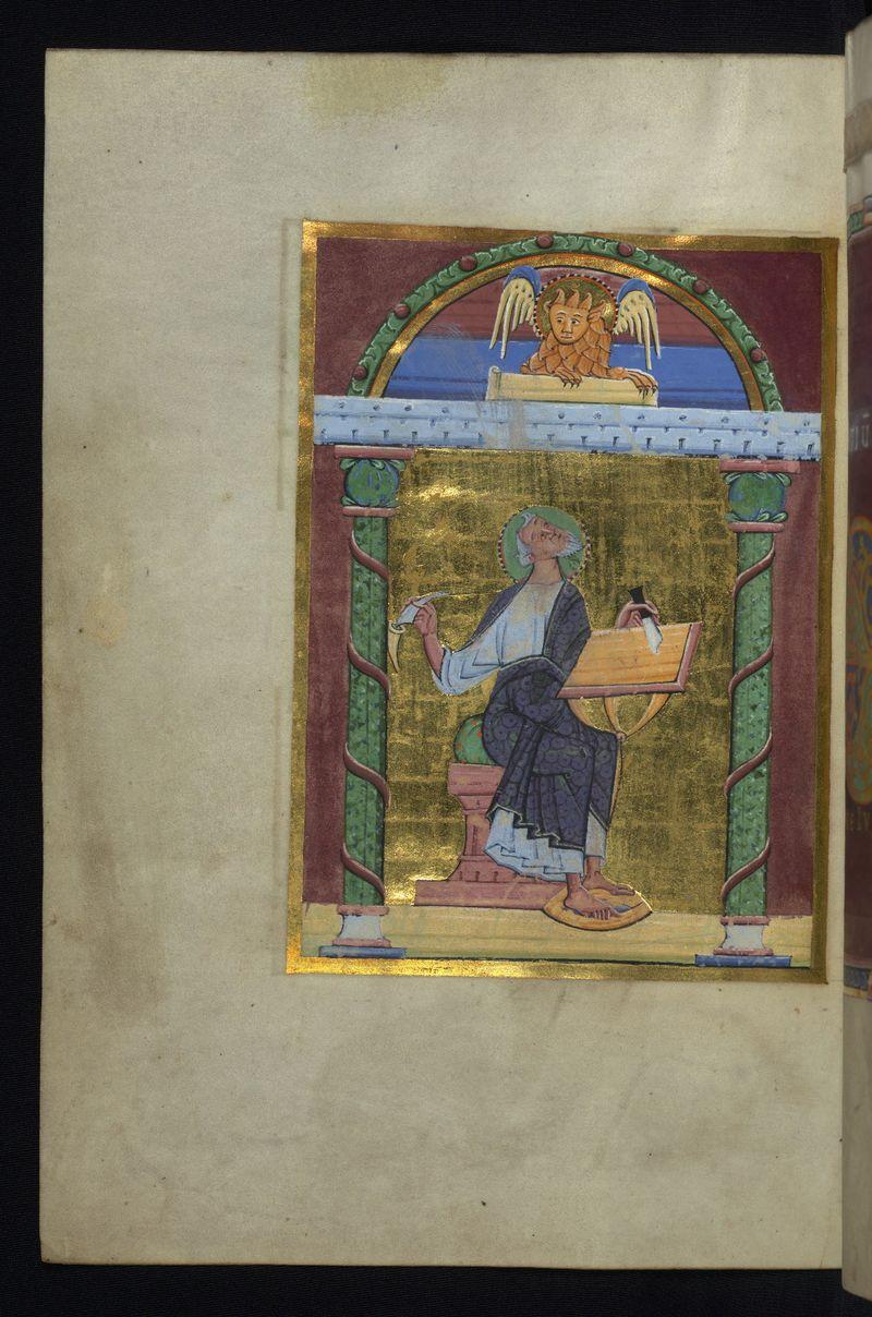 Walters Ms. W.7, Reichenau Gospels f67v st marc