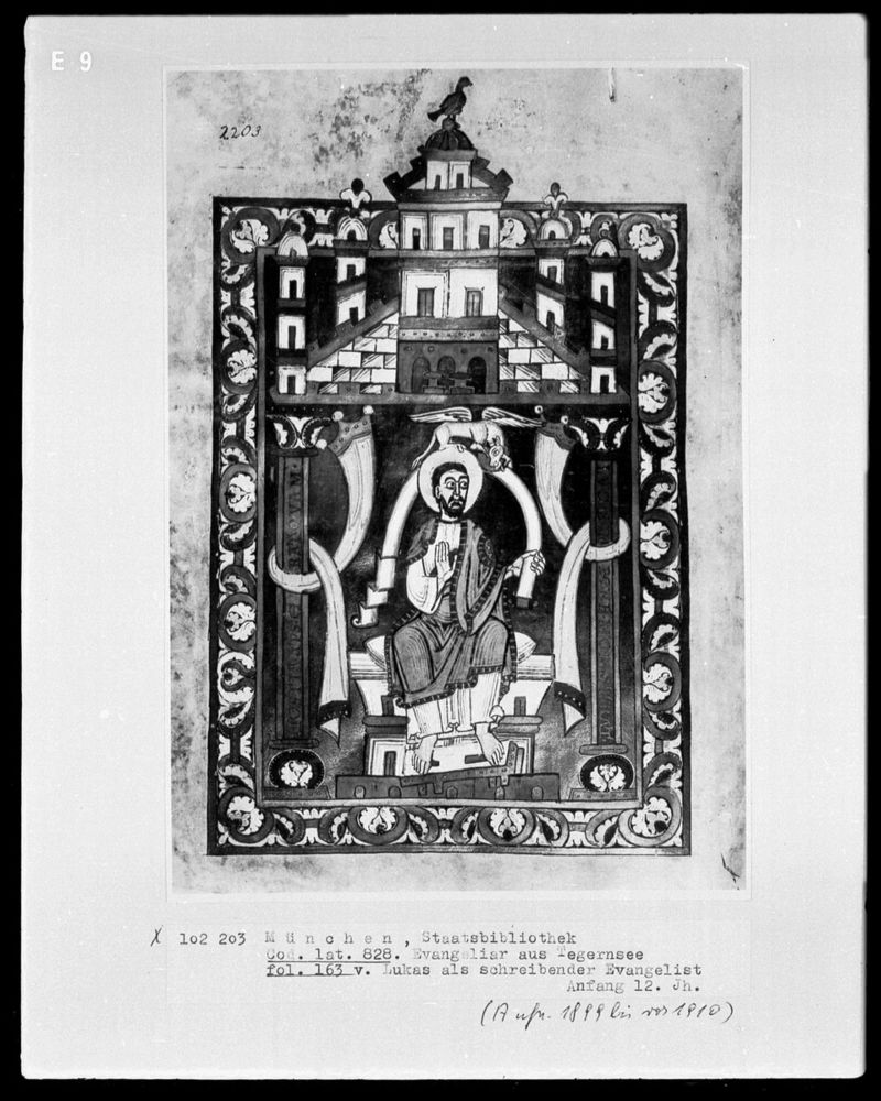 St luc Evangeliar, bayerisch, 1101:1115, München, Bayerische Staatsbibliothek, Inv.-Nr. Cod. lat. 828 —