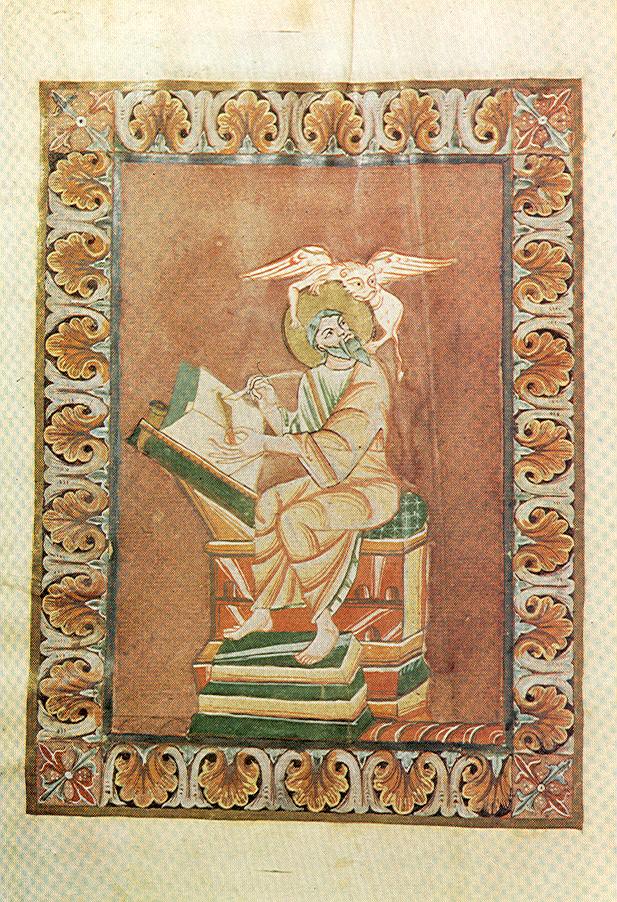 *st Marc Theophanu-Evangeliar, fol 50 v, Entstehungsort: Lüttich?, 1039:1056, Essen, Domschatzkammer Essen Hs3 —