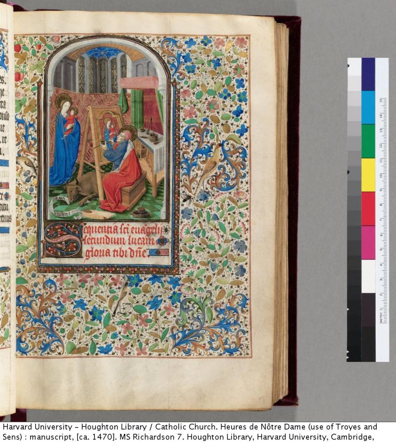 1 cambridge, harvard uniersity st luc, houghton library ms Richardson 7 f17