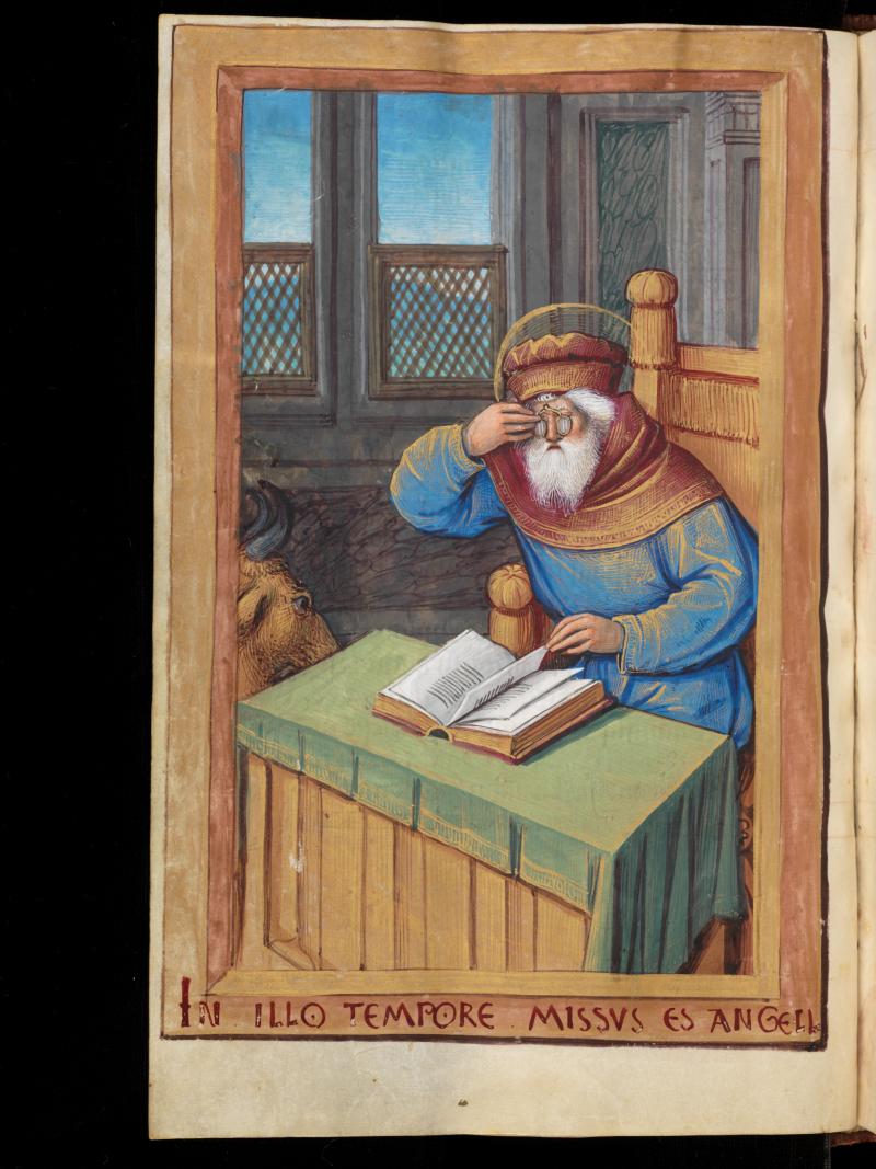 *lunettes Genève, Bibliothèque de Genève : Comites Latentes 124 – Book of hours : f. 16v