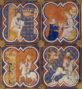 1371 bnf na fr 4515 f1 jean de mandeville écrivant mémoire