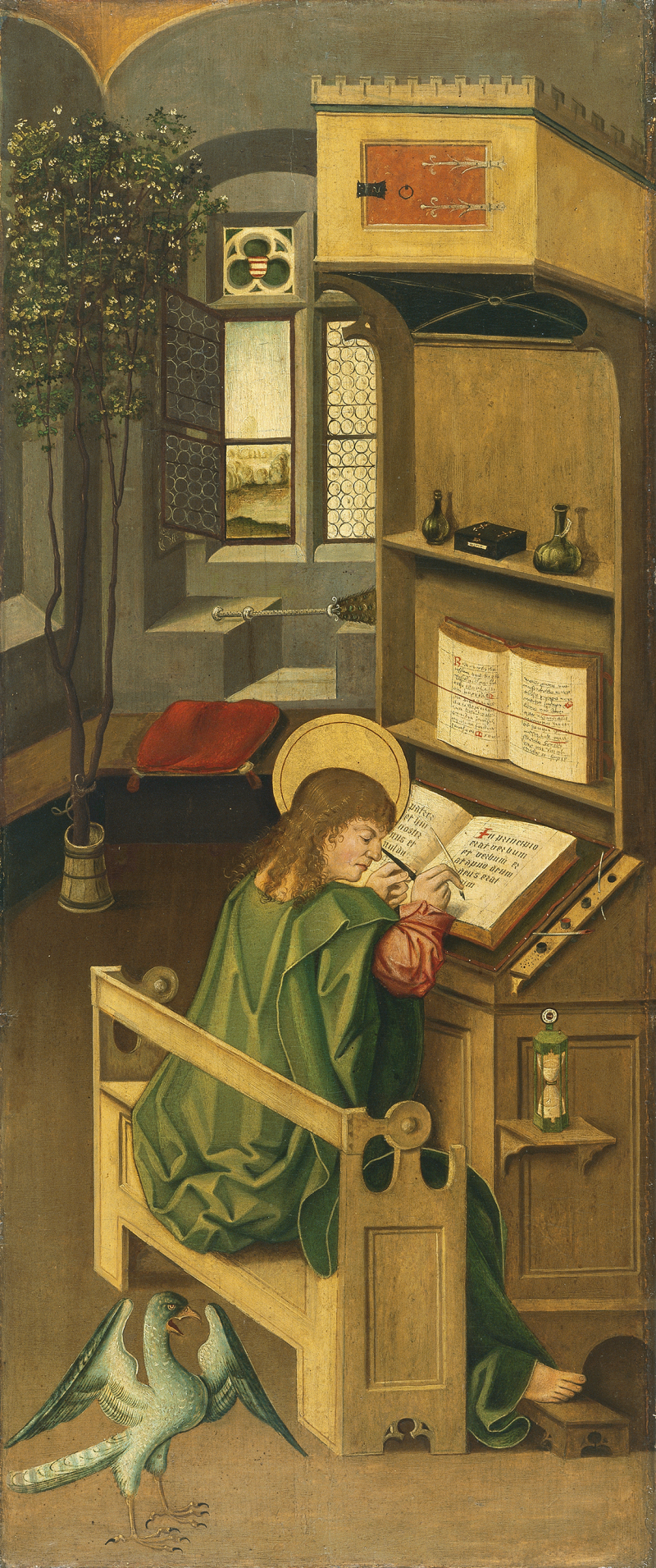 Saint Luke the Evangelist 1478  Oil on panel. 77 x 32.2 cm Museo Thyssen-Bornemisza  Madrid Inv. no. 233 (1928.15) gabriel malesskircher