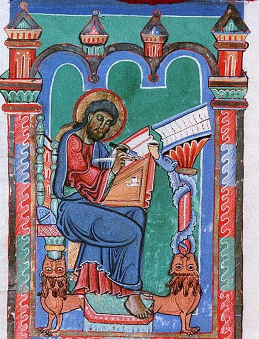 Sankt Florian (abbaye augustienienne de saint Florian en Autriche) Augustiner-Chorherren Stift Codex San-Florianensis III  1. f.45v  f.46r 11e s