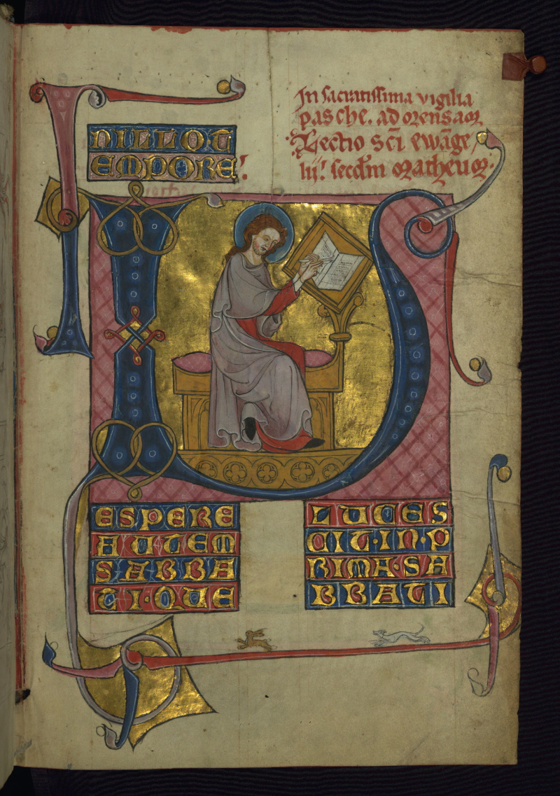 Homilary  Portrait of the Venerable Bede  Walters Manuscript W.148  fol. 3v