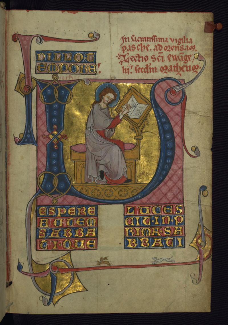 Homilary  Portrait of the Venerable Bede  Walters Manuscript W.148  fol. 3v