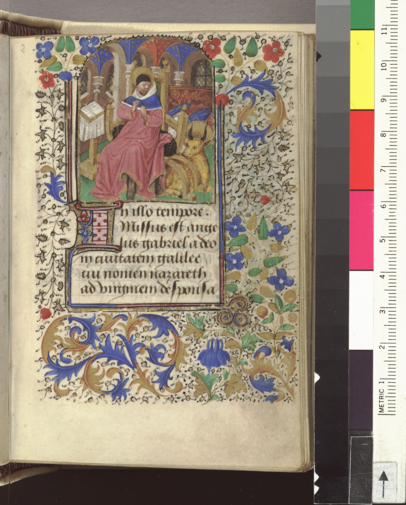 St luc paris 1425-1450 Austin  University of Texas at Austin  Harry Ransom Humanities Research Center   HRC 008 folio 17