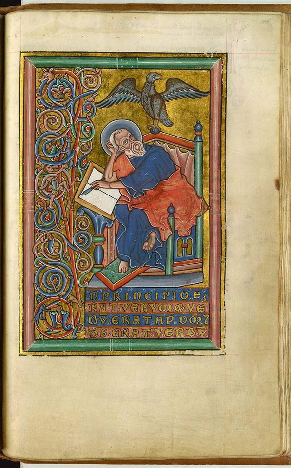 *st Jean, GKS Danemark, 11,2° folio 106r°, Allemagne, Saxony ? c.1250