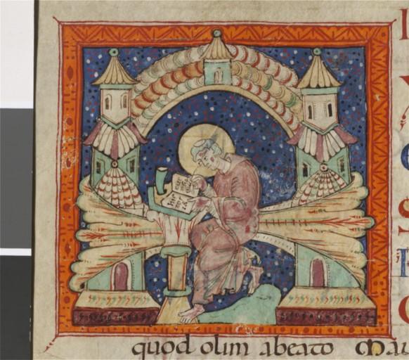 *odon de Glanfeuil bnf latin 3778 f115v fin 11e st maur des fossées