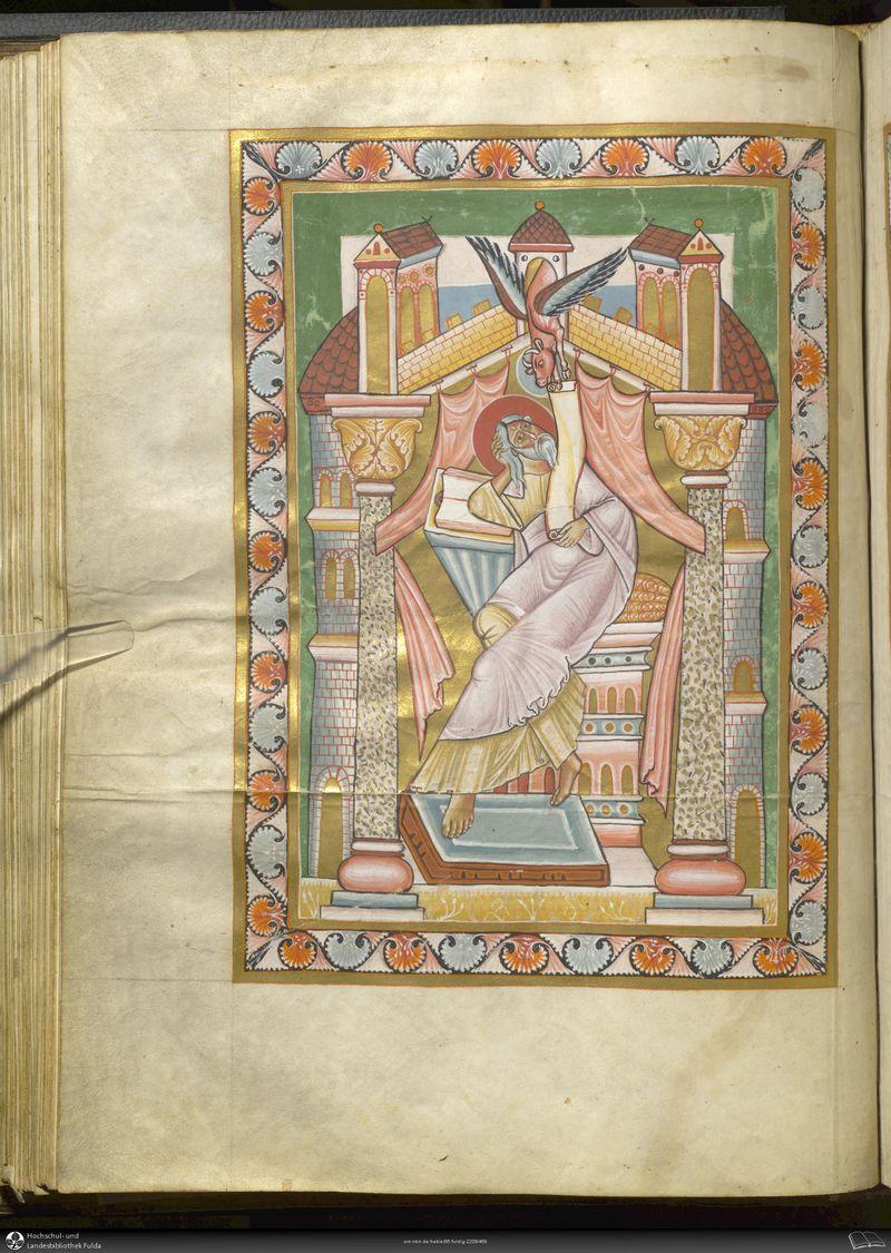 *alengui st luc fulda dernier quart 12e s fulda, hochschul und landesbibliothek A00Aa44 folio 69v