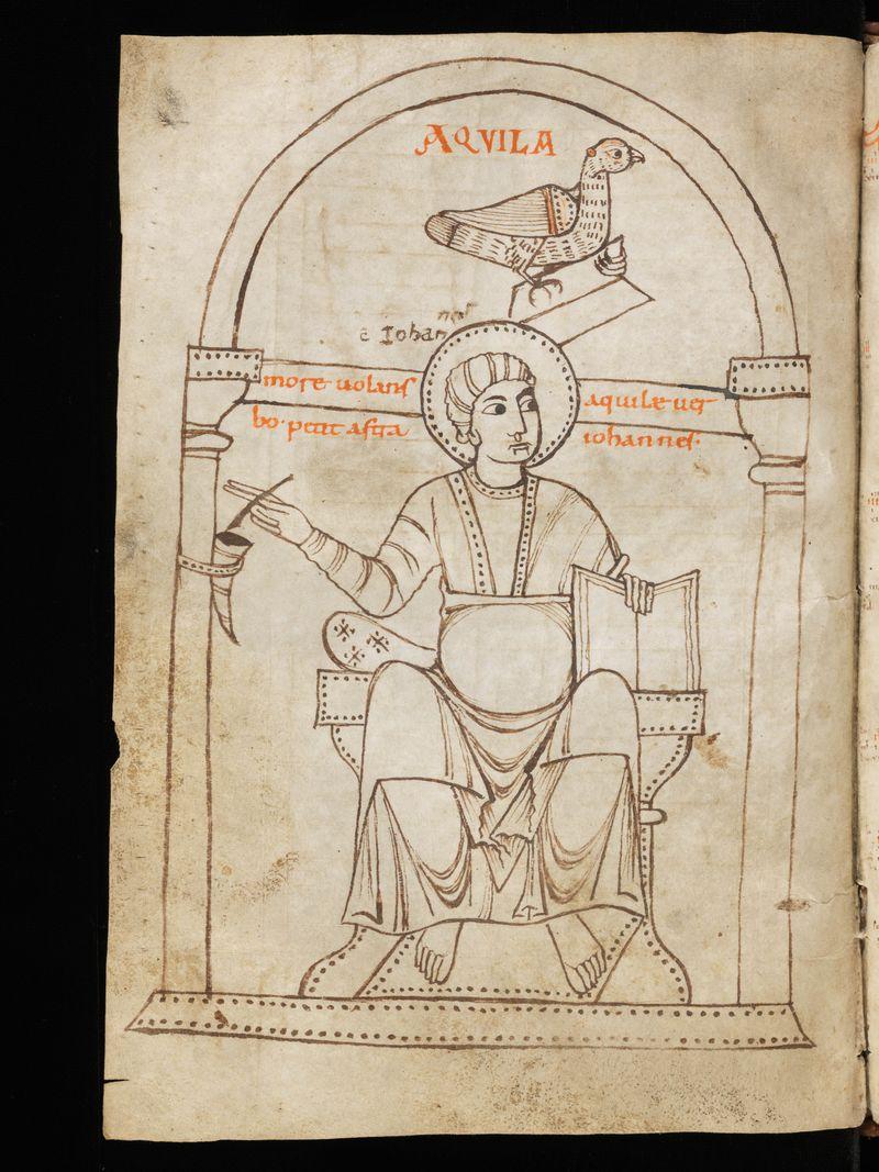 St jean, suisse Schaffhausen, ministerialbibliothek Min.8 f.144v, Xe Halberstadt