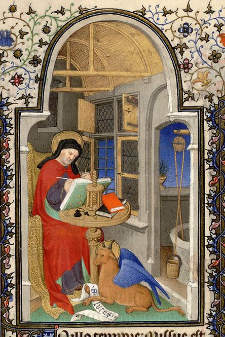 *roue st luc mazaine 469 v 1410-1415 maitre de la mazarine atelier boucicaut