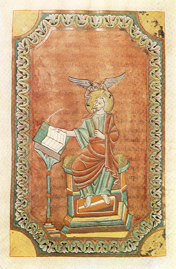 *st luc 2  Theophanu-Evangeliar, fol 76 v, Entstehungsort: Lüttich?, 1039:1056, Essen, Domschatzkammer Essen Hs3 —