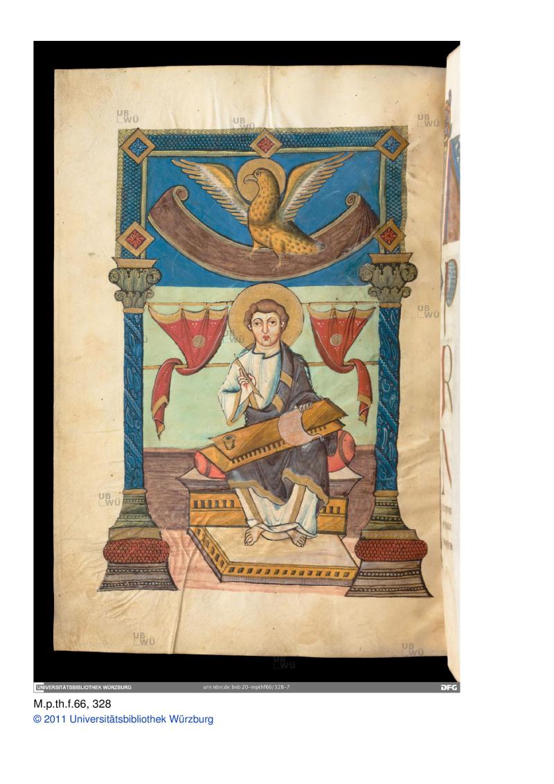 9e -scriptionale st jean Fulda, 2e tiers du 9e universitat wurzburg M_p_th_f_66 folio 0164v-page-001