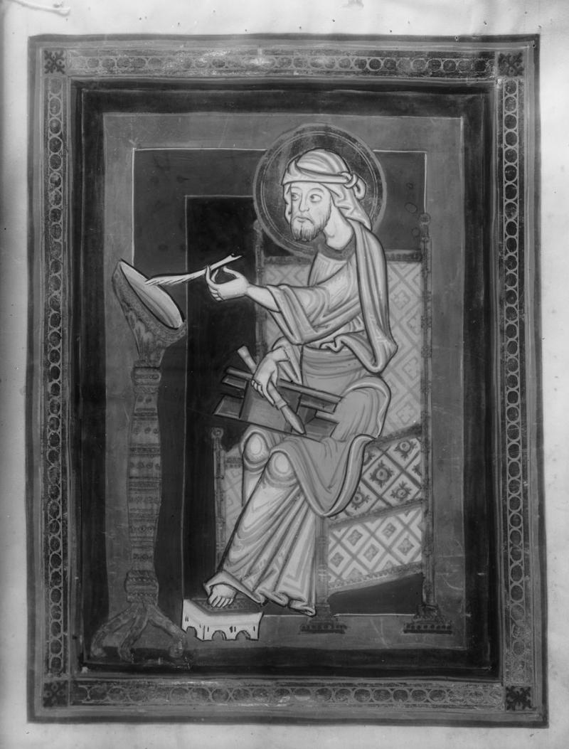 12e *scriptionale st marc sogenanntes Hardehäuser Evangeliar, Entstehungsort: Helmarshausen, um 1155-1165, Kassel, Landesbibliothek, Inv.-Nr. Ms. theol. 2° 59 —
