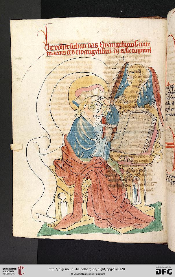 St marc vatican biblioteca apostolica Cod. Pal. germ. 23 Bibel, dt.- NT Hagenau - Werkstatt Diebold Lauber, 1441-1449 folio 063v