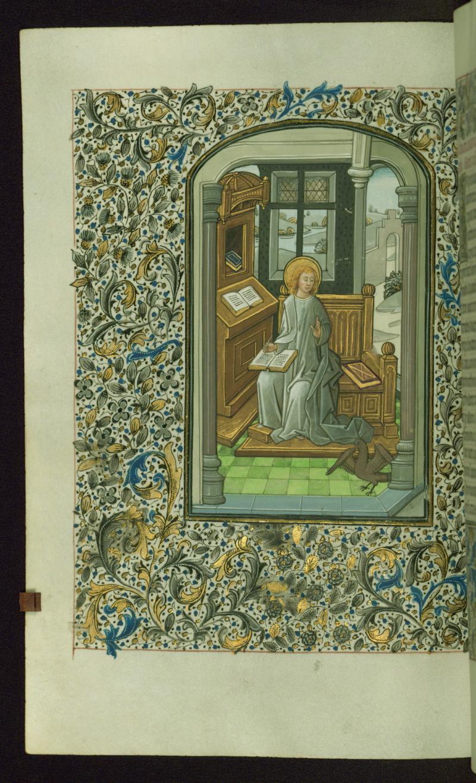 Book of Hours  St. John Evangelist  Walters Manuscript W.196  fol. 44v