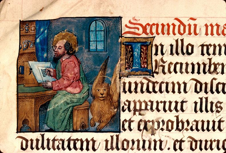 Saint Marc  vers 1470  Bourgogne (?)  Besançon Bibliothèque municipale 93 folio 20v