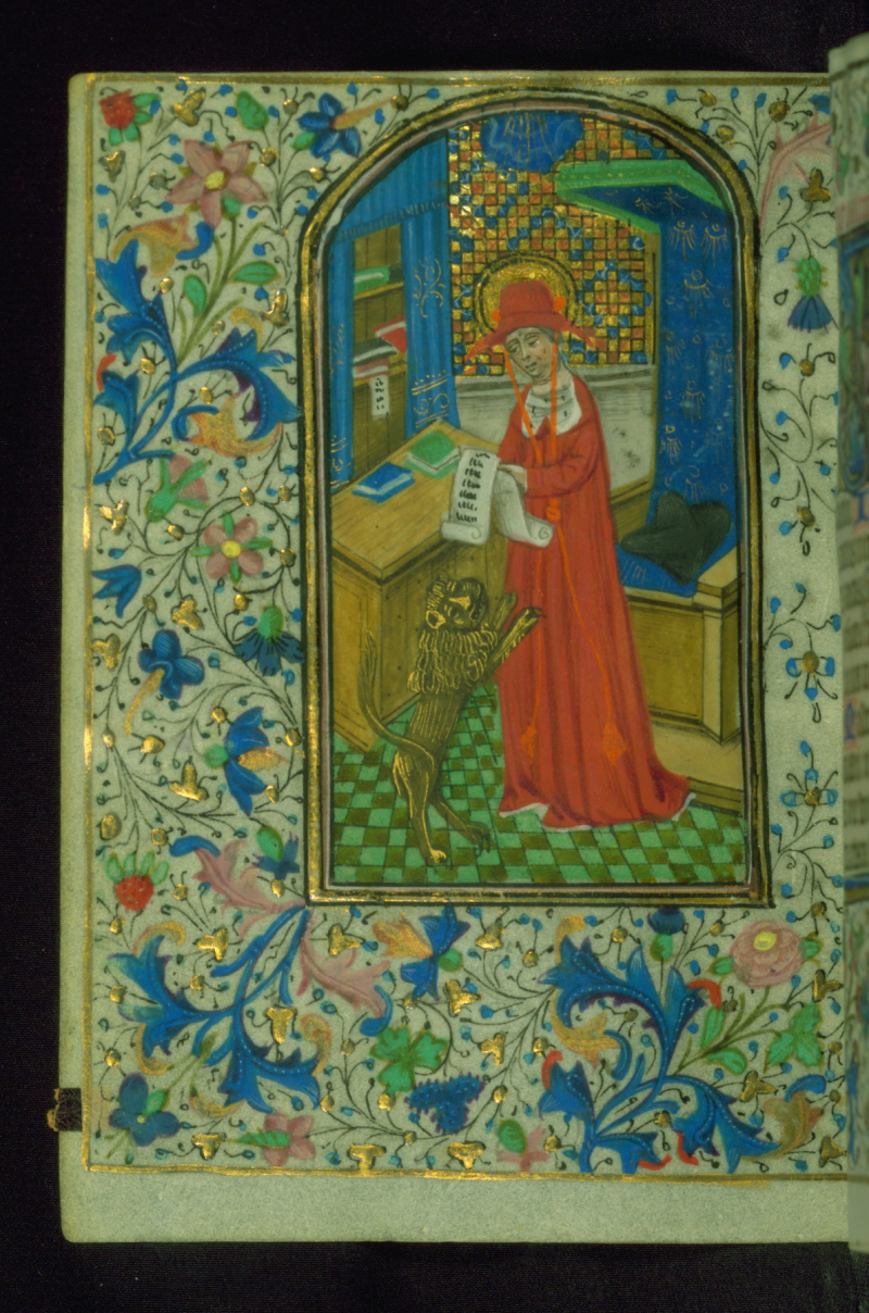Jérome Book of Hours  St. Jerome in his study  Walters Manuscript W.202  fol. 244v