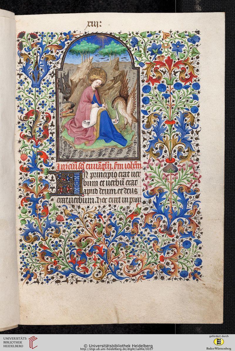 *st jean codices salemitani Cod. Sal. IXe Livre d'heures Paris, 1420:30 folio 013r