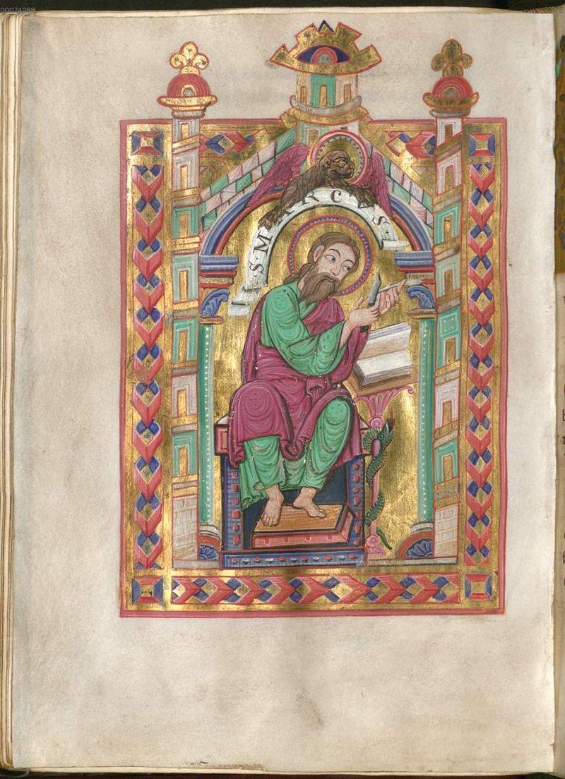 St marc, munich staatsbibliothek Clm 28321 fol 106 v Tegernsee fruhes 12