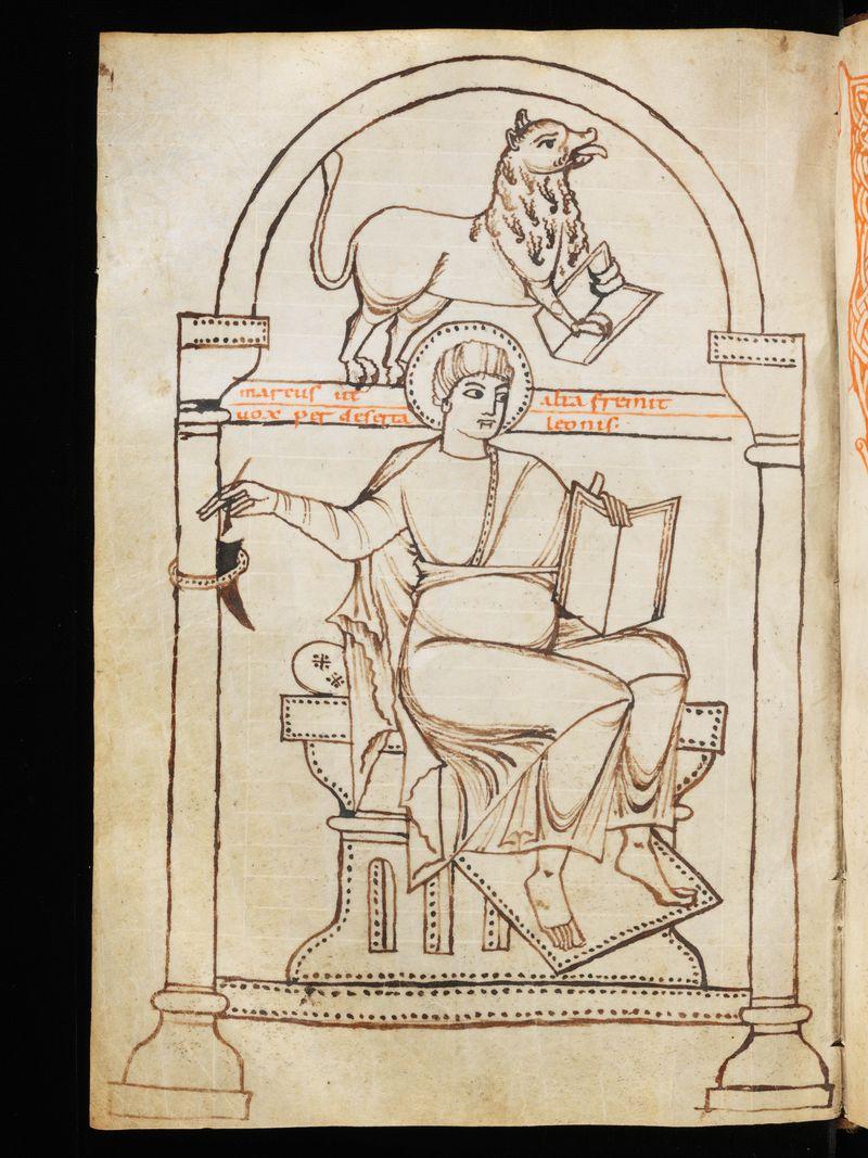 St marc, suisse Schaffhausen, ministerialbibliothek Min.8 f.63v, Xe Halberstadt