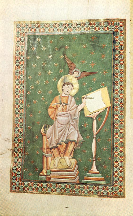 *st Matthieu Theophanu-Evangeliar, fol 10 v, Entstehungsort: Lüttich?, 1039:1056, Essen, Domschatzkammer Essen Hs3 —