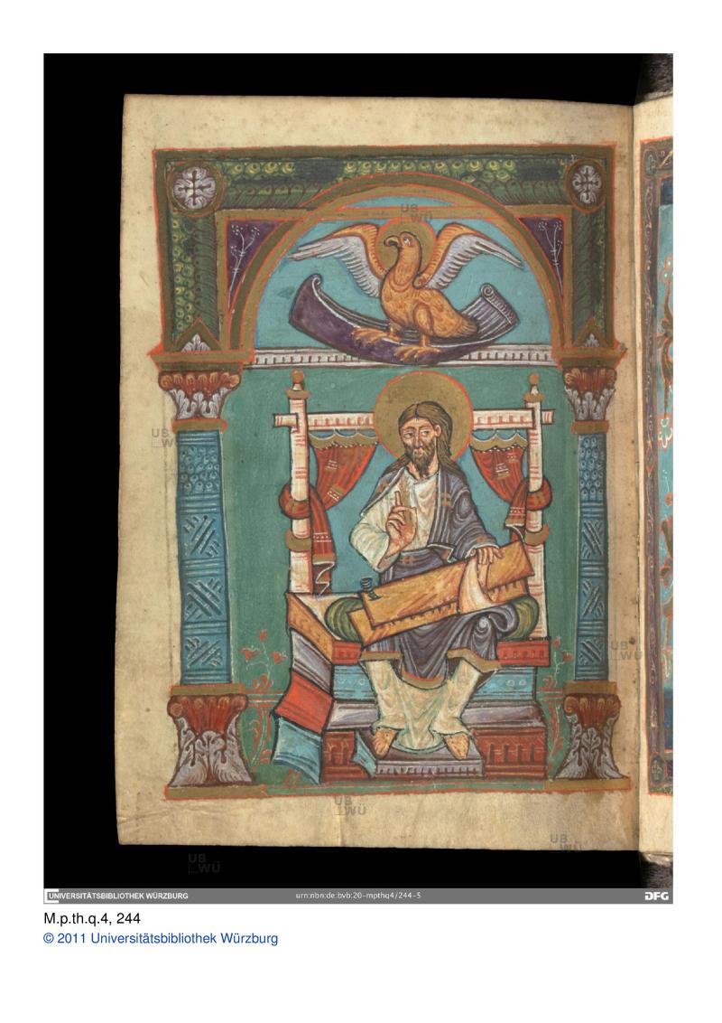 11e -scriptionale St jean Wurzburg cathédrale vers l an 1000, Universitat wurzburg ms M_p_th_q_4__folio__0122v-page-001