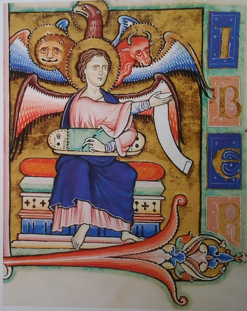 13e Saint Mathieu, Angleterre, 1220, Cambridge, Trinity College, ms B.5.3, folio 4v