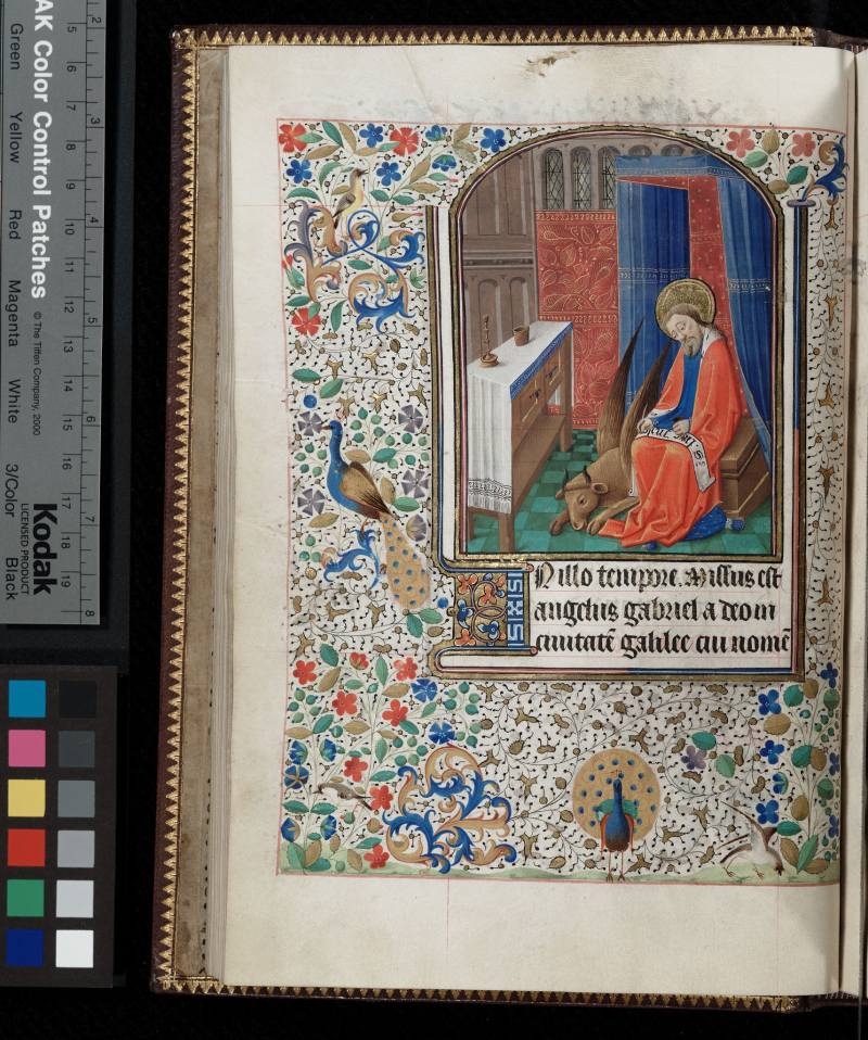 St luc Lawrence, University of Kansas, Kenneth Spencer Research Library,  Pryce MS C1 f14v