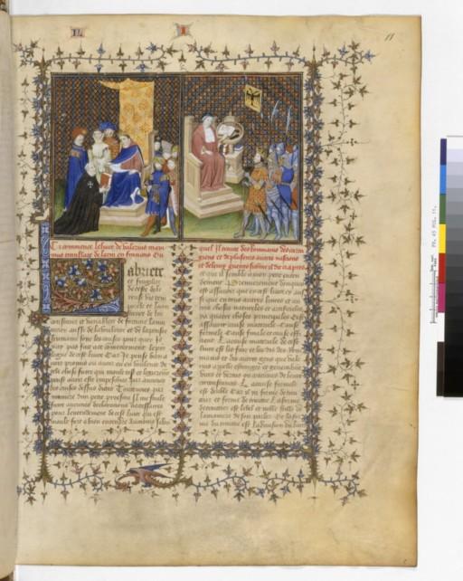 ***1405-1410 Français 45, fol. 11, Valère Maxime et Tibère