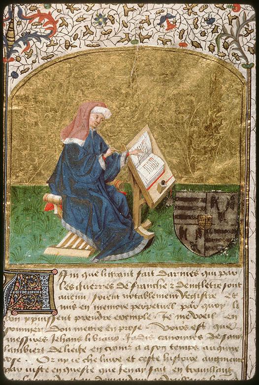 Froissart  amiens BM 486 folio 1 france du nord  1:2 ou 3e quart du 15e france du nord?