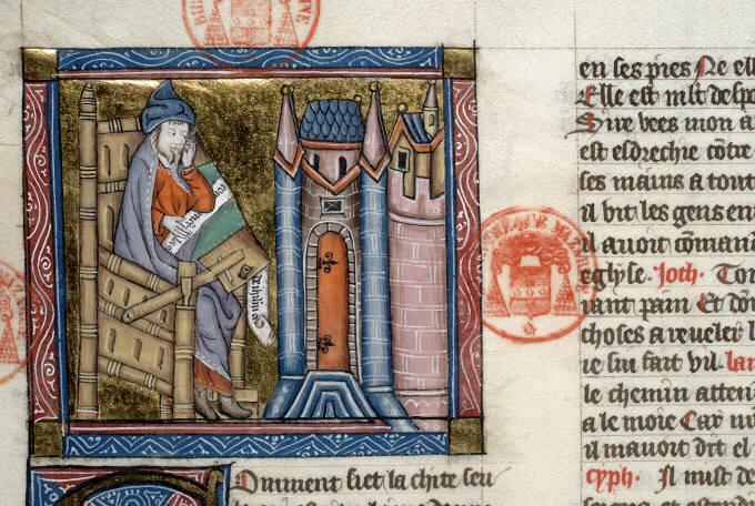 15 st jérémie se lamentant sur jérusalem mazarine 312 f249v vers 1440 France du nord ou belgique du sud